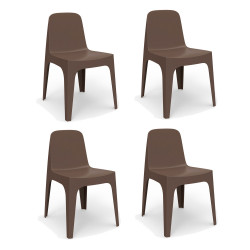 Lot de 4 Chaises Solid, Vondom bronze