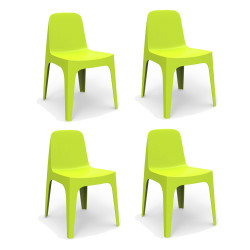 Lot de 4 Chaises Solid, Vondom pistache
