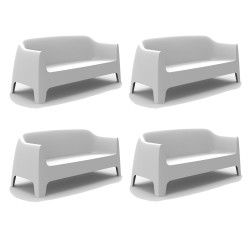 Lot de 4 Canapés Solid sofa, Vondom Blanc