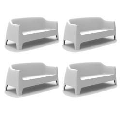 Lot de 4 Canapé Solid sofa, Vondom Blanc