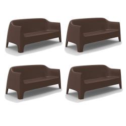Lot de 4 Canapés Solid sofa, Vondom bronze