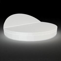 Bain de soleil rond design, Vela Daybed, dossier inclinable, Vondom Lumineux LED blanc