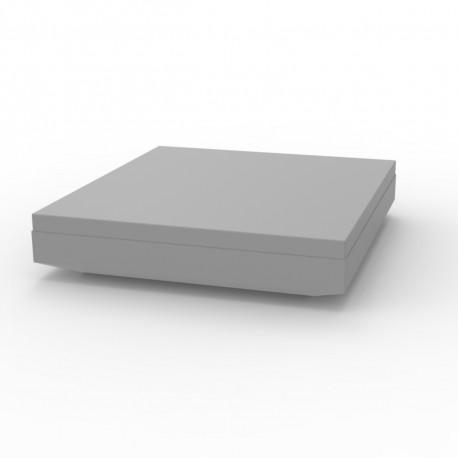 Lit de soleil design Vela Daybed, Vondom, coussin Silvertex gris argent, 200x180xH40cm