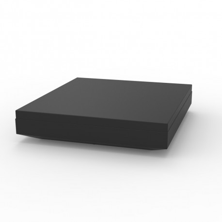 Lit de soleil design Vela Daybed, Vondom, coussin Silvertex noir 200x180xH40cm