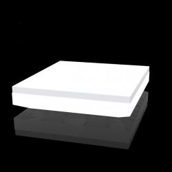 Lit de soleil design Vela Daybed, Vondom, Lumineux Led Blanc, 200x180xH40cm