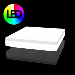 Lit de soleil design Vela Daybed, Vondom, Lumineux Led RGBW multicolore, 200x180xH40cm