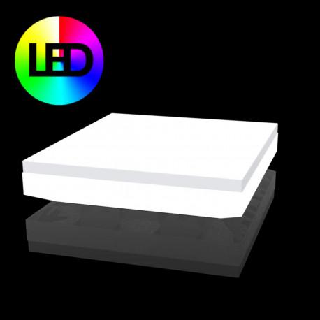 Lit de soleil design Vela Daybed, Vondom, Lumineux Led RGBW multicolore 200x180xH40cm
