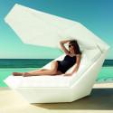 Daybed chaise longue design avec Parasol Faz, Vondom écru
