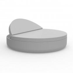 Lit de piscine design Ulm Daybed, Vondom, Coussin Silvertex gris argent, 180x40cm