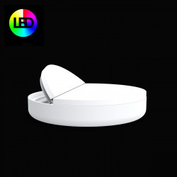 Lit de piscine design Ulm Daybed, Vondom, Lumineux Led RGBW multicolore,180x40cm