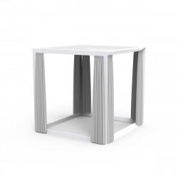 Pergola pour bain de soleil 2 places Vela avec rideaux blancs, Vondom, 204x204x204cm