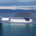Lit de soleil nid Vela Daybed design, avec parasol, Vondom Lumineux LED Blanc