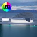 Lit de soleil nid Vela Daybed design, avec parasol, Vondom Lumineux LED RGBW multicolore