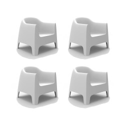 Set de 4 Fauteuils Lounge Solid, Vondom blanc