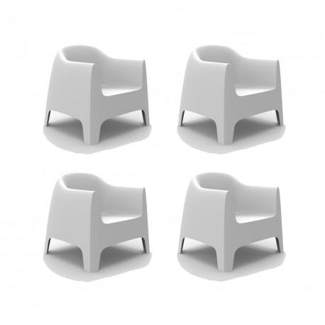 Set de 4 Fauteuils Lounge Solid, Vondom blanc