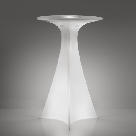 Mange debout Jet, Slide Design lumineux blanc D62xH100 cm