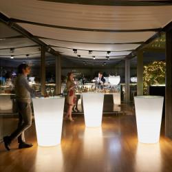 Mange debout Pint, Slide Design lumineux blanc D72xH108 cm