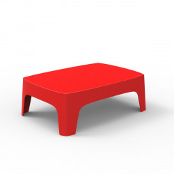 Table basse lounge Solid, Vondom rouge