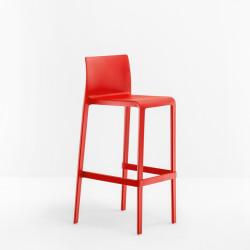 Lot de 2 Tabourets de bar Volt 678, Pedrali rouge, hauteur d'assise 76,5 cm
