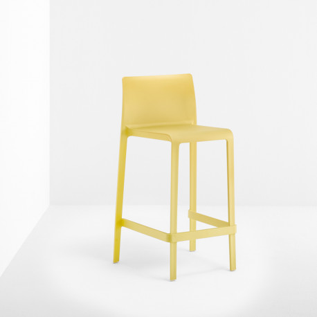 Lot de 2 Tabourets de bar Volt 678, Pedrali jaune, hauteur d'assise 76,5 cm