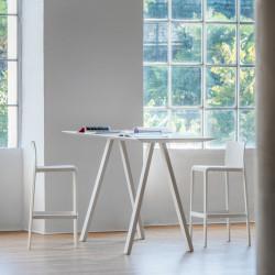Table haute design Arki, Pedrali blanc 200x79cm
