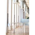 Table haute d'extérieur Arki, Pedrali blanc 200x79cm