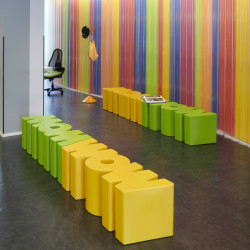 Banc Wow, Slide Design jaune Mat