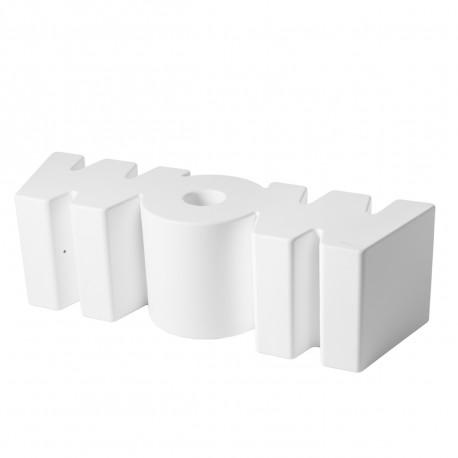 Banc Wow, Slide Design blanc Mat
