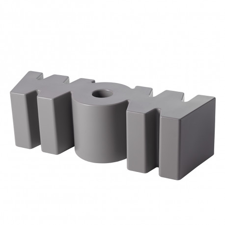 Banc Wow, Slide Design gris argile Mat