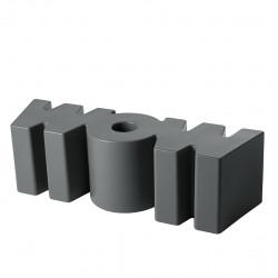 Banc Wow, Slide Design gris foncé Mat