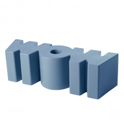 Banc Wow, Slide Design bleu Mat