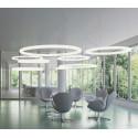 Suspension cercle Giotto, Slide design cool white Led, diamètre 80cm