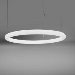 Suspension cercle Giotto, Slide design cool white Led, diamètre 140cm