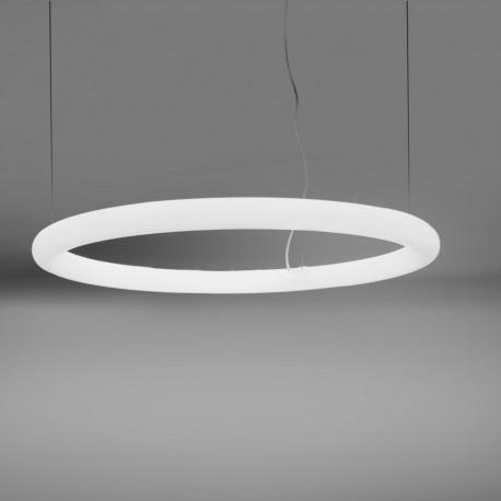 Suspension cercle Giotto, Slide design cool white Led, diamètre 110cm