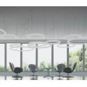 Suspension cercle Giotto, Slide design cool white Led, diamètre 140cm