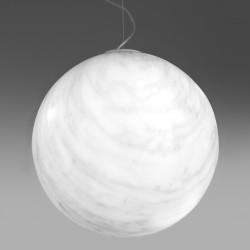 Suspension ronde Mineral, Slide design, marbré gris, Diamètre 30 cm