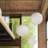 Suspension boule lumineuse intérieur Molly, Slide Design blanc