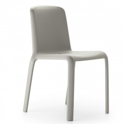 Chaise Snow 300, Pedrali gris clair
