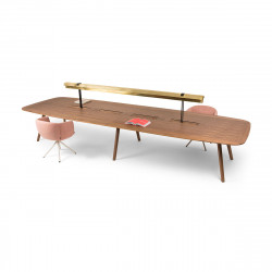 Bureau Bench Wing 4 places, True Design Noyer