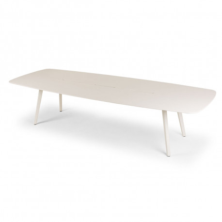 Bureau Bench Wing 4 places, True Design Blanc
