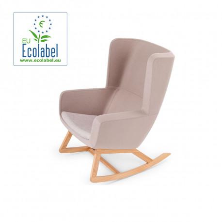 Rocking Chair design Arca, True Design rose poudré