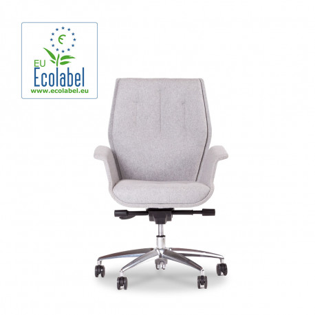 Fauteuil design pivotant Hive, True design, dossier medium gris clair