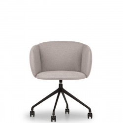 Fauteuil design pivotant Not, True design gris clair