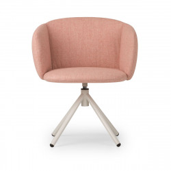 Fauteuil design pivotant Not, True design rose poudré