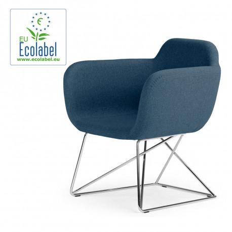Fauteuil Slight, True Design, bleu pétrole