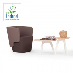 Fauteuil Wrap, True design, marron