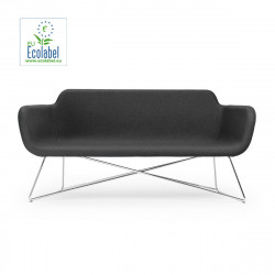 Canapé Slight 2 places, True Design, anthracite