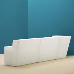 Bar central Oblique, Pedrali blanc Mat