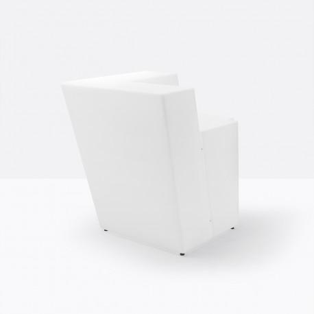 Élément d'angle bar Oblique, Pedrali blanc Mat