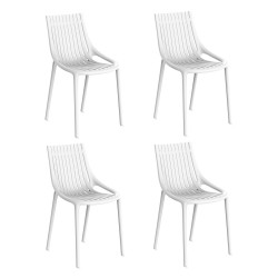 Lot de 4 Chaises Ibiza à barreaux, Vondom blanc